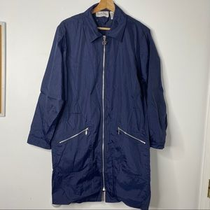 Diane Von Furstenberg Navy RainCoat Windbreaker
